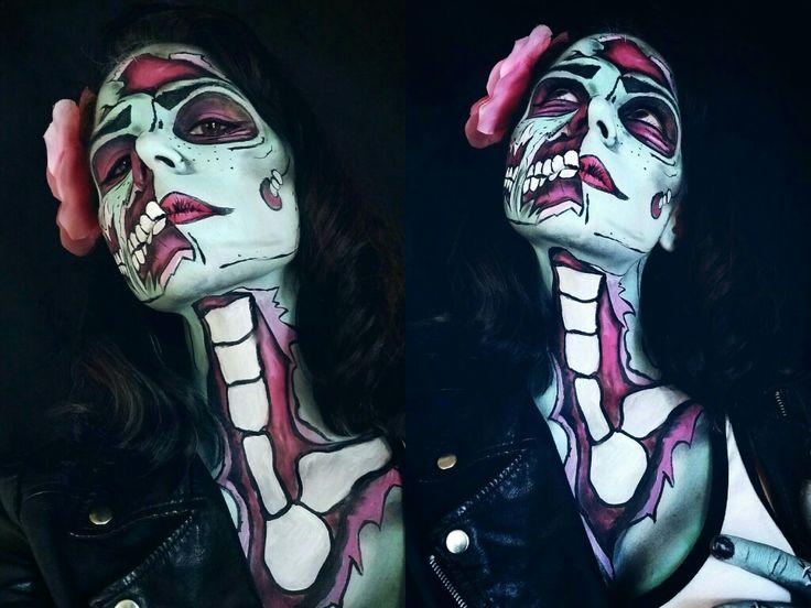 #halloween #pinupzombie #zombiemakeup #facepaint #makeupart