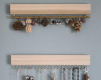 madera natural colgante estante de exhibición del por fairlywell