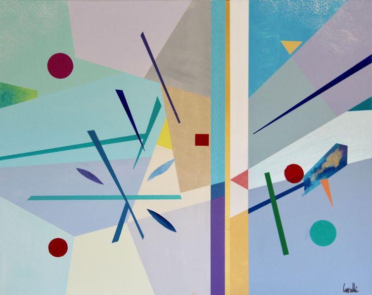 Composition 17059 - Peinture,  100x80 cm ©2017 par Pascal Cavalli -                                        Art abstrait, Art abstrait