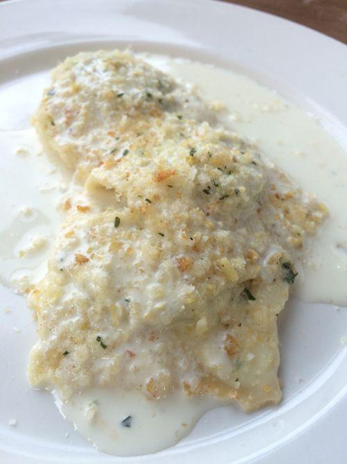 Spinach Ricotta Ravioli w/ Lemon Cream Sauce & Citrus Gremolata - Piatti Italian Restaurant & Bar