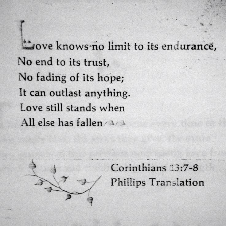 Love stands when all else has fallen.