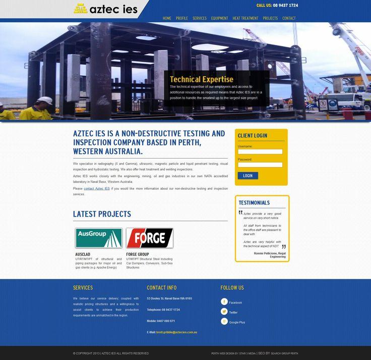 Aztec Ies Web Design by Star 3 Media