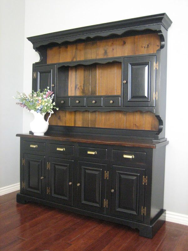 Images Of Painted Hutches Black Farmhouse Hutch