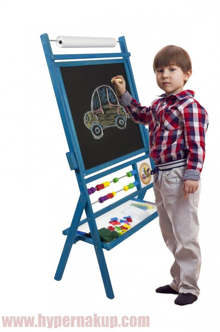 Detská magnetická tabuľa modrá 100x56