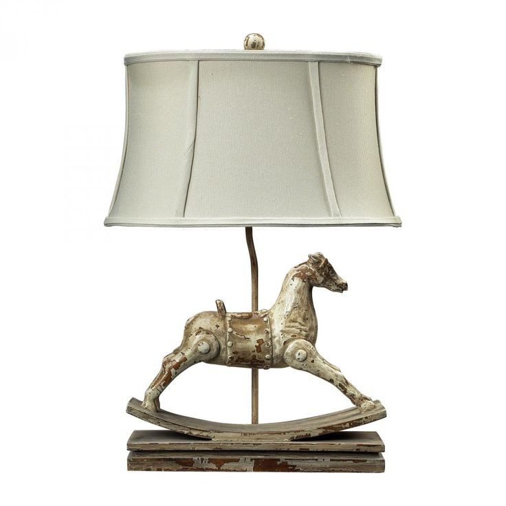 Take a browse through the Carnavale Collection of traditional fixtures by Diamond, like this Clancy Court table lamp...the rocking horse feature will perfectly suit a little boys room or at the cottage!