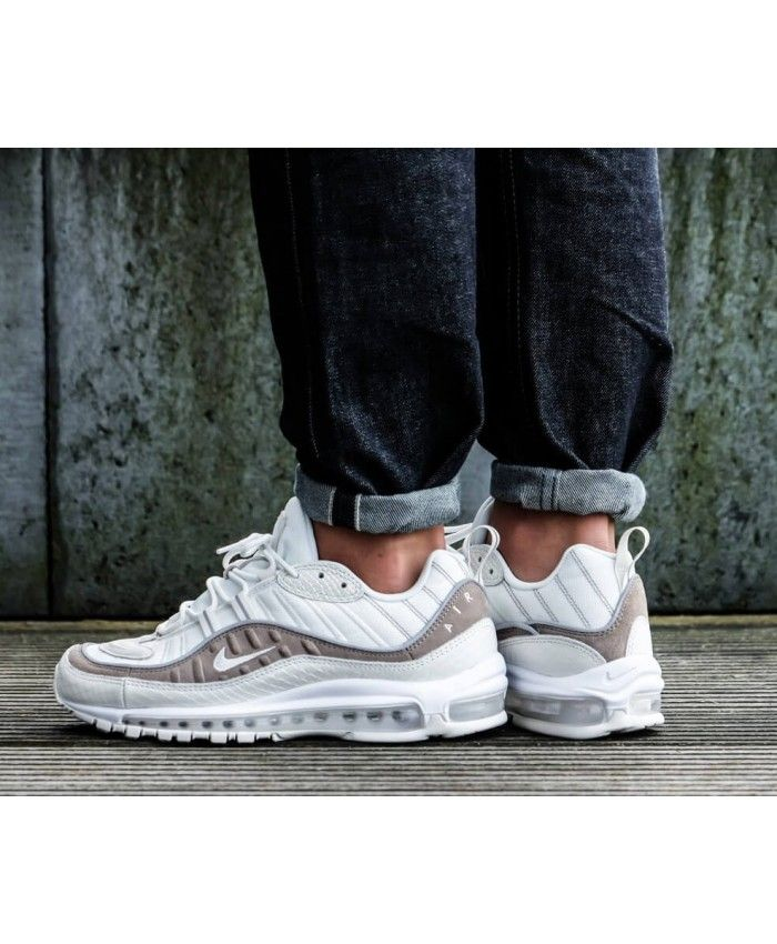 size 40 18a49 38940 Men s Nike Air Max 98 SE Sail White-Sepia Stone Trainer