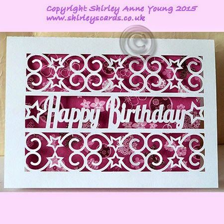 Freebie Happy Birthday with Stars Card | Shirley's Cards | Bloglovin'