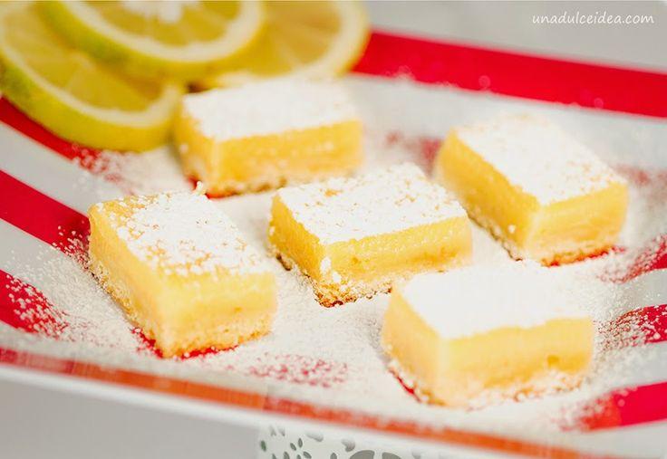 Una Dulce Idea: Dulce Antojo: Barritas de Limón Adictivas.