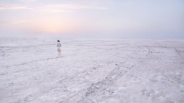 The Rann of Kutch, also known as the Great Rann of Kutch, is a remarkable place to visit in Gujarat, India. It's the world's largest salt desert, measuring over 16,000 square kilometers.