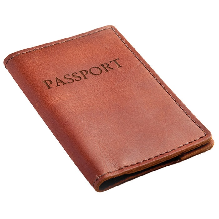 Hampstead Passport Cover in Saddle