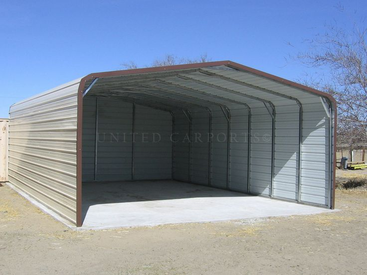 This our standard style carport with both sides enclosed