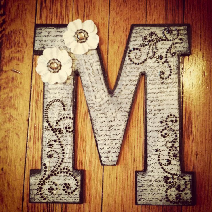 latest diy project paper mch letters