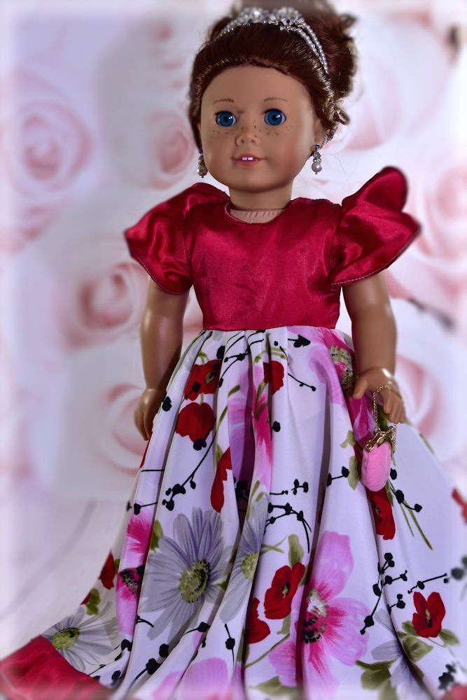 18 inch doll clothes pattern dress. Flamenco dress fits 18 inch ...
