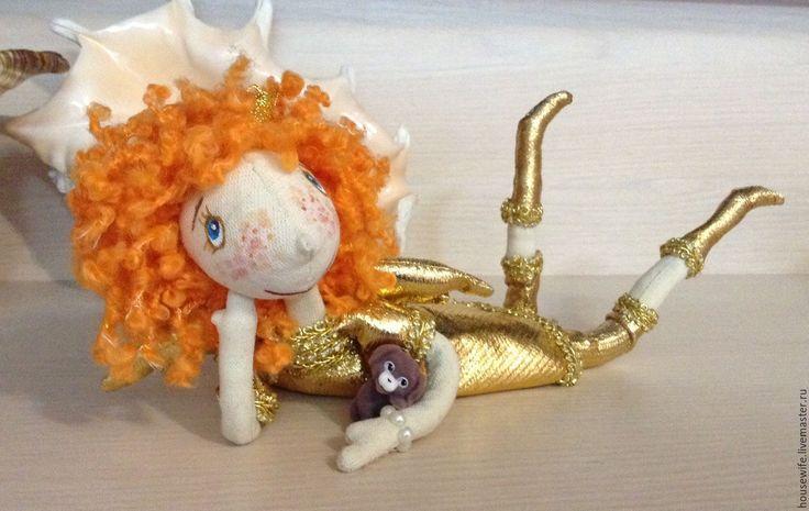 Купить Кукла интерьерная на каркасе Золотой Солнечный Ангел - золотой, ангел, подарок девушке