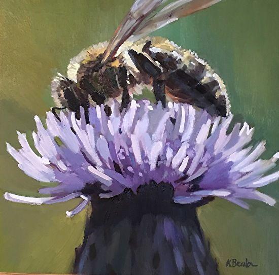 Worker Bee by Kaethe Bealer Oil ~ 10 x 10