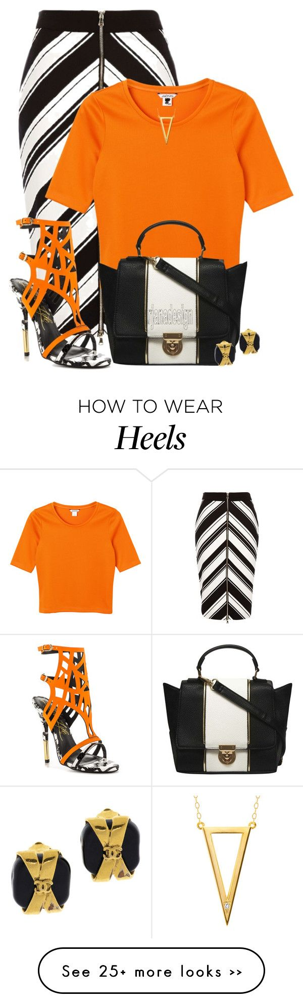 """RIVER ISLAND SKIRT"" by arjanadesign on Polyvore featuring River Island, Monki, Lust For Life, Dorothy Perkins, Ella Poe, Chanel, WorkWear, RiverIsland and DorothyPerkins"