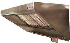 Quality Commercial Kitchen Equipment - 6' Concession Trailer Exhaust Vent Hood w/ Fan & Curb