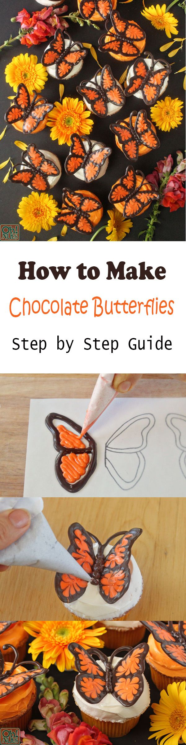 how to make chocolate butterfly wings