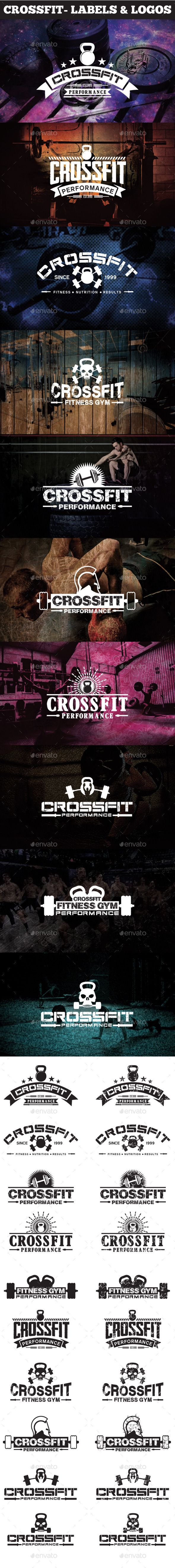 Crossfit- Labels & Logos Design. Download: http://graphicriver.net/item/crossfit-labels-logos/11426694?ref=ksioks