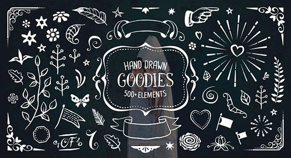500+ Hand Drawn Elements Pack