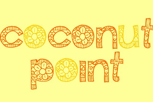 free flower font-coconut point