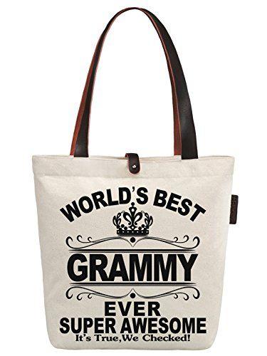 Women S World Best Grammy Ever Canvas Handbag Tote Shoulder Bag