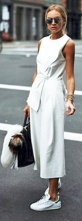 spring style. all white.