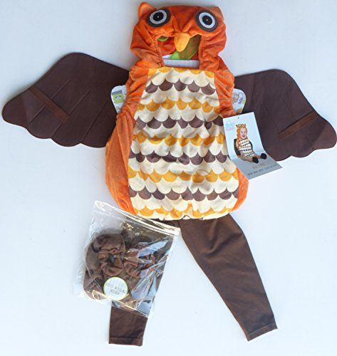 Boo Babies Halloween Costume What a Hoot Owl Sz 09 Months 3 Pieces Brown Orange