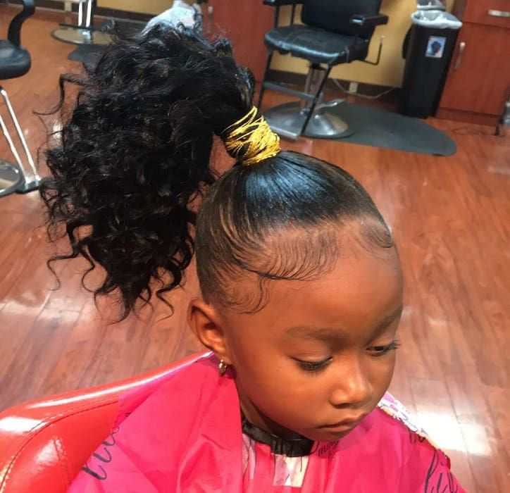 10 Adorable Weave Hairstyles For Little Girls To Explore Curly Girl Hairstyles Kids Hairstyles Weave Hairstyles