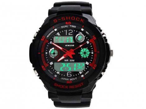 Relógio Masculino Kikos RK02 Anadigi com as melhores condições você encontra no site do Magazine Luiza. Confira!