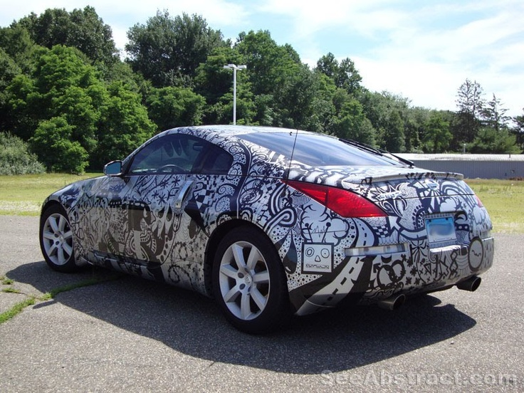 Nissan 350Z: Doodles Cars, Silver Nissan, Amazing Artworks, Art Cars, Sharpie Art, Nissan Sharpie, Sharpie Cars, Art Image, Art Attack