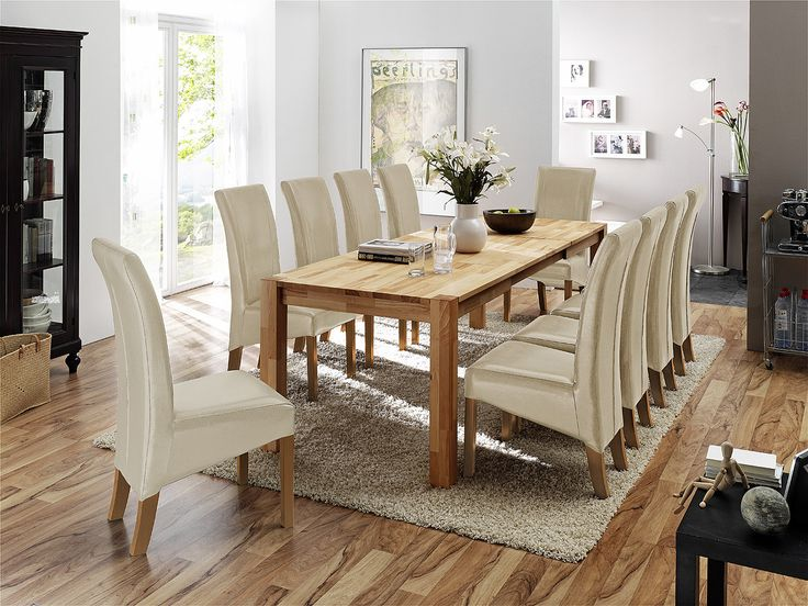 ... M Esszimmer. Esstisch 160 X 90 Cm Mit 10 Stühlen Woody 41 00545 Buche  Holz   Arte
