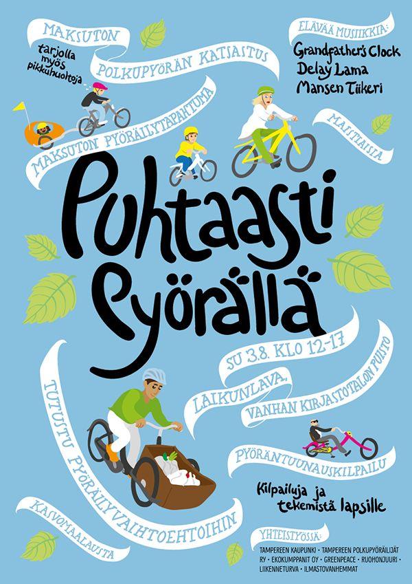 Puhtaasti pyörällä poster by Teemu Helenius, via Behance
