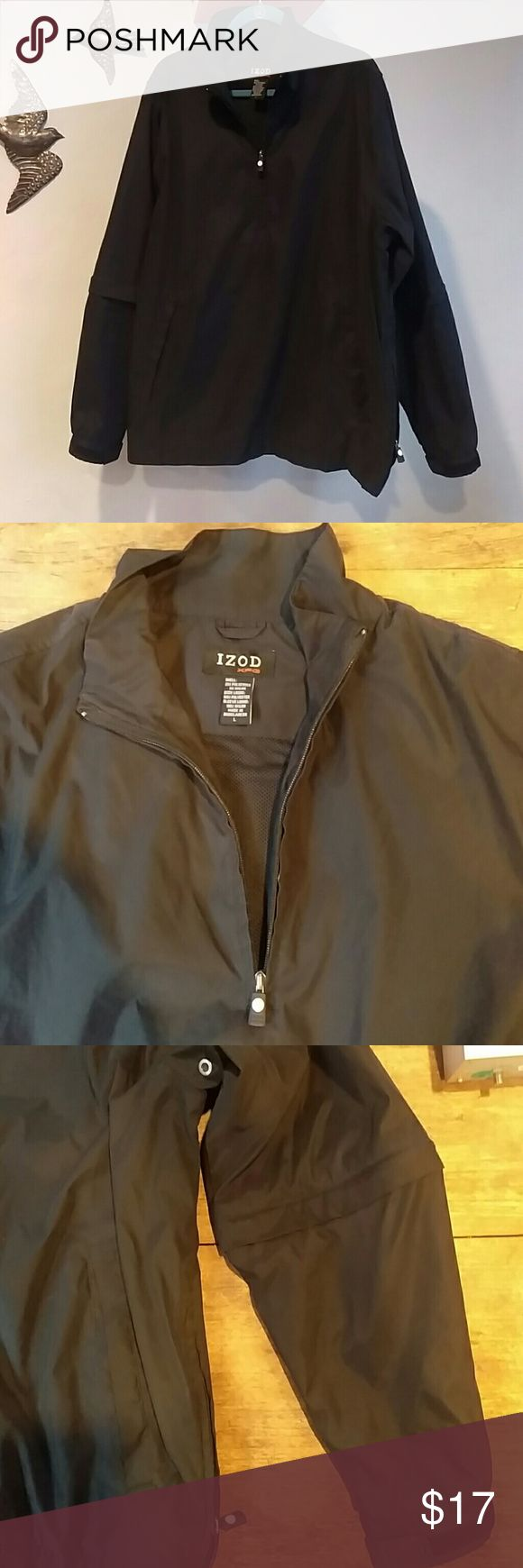 IZod XFG Walter Hagen Golf Jacket Zip off sleeves. Velcro at cuffs . Zip vent at side. Windbreaker and weather proof.  Very functional when out on course.  Only worn a few times. No real signs of wear.  You will conquer the course with this on! Izod Jackets & Coats Performance Jackets
