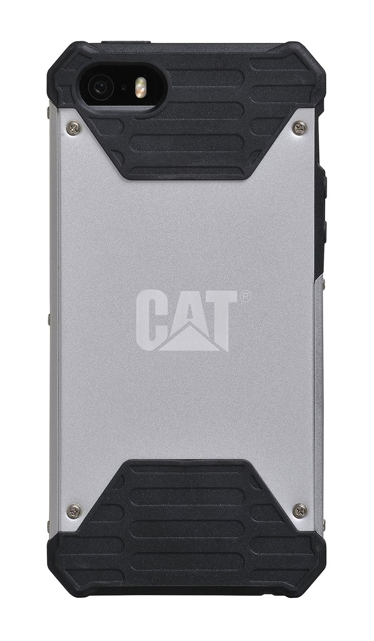 Caterpillar Active Signature Case for iPhone 5/5s - Silver. Made with Impact Resistant SAIF material. Drop proof up to 6 feet. Lightweight, slender, and stylish design. Protects against daily bumps and scratches. Full access to all ports and functions.