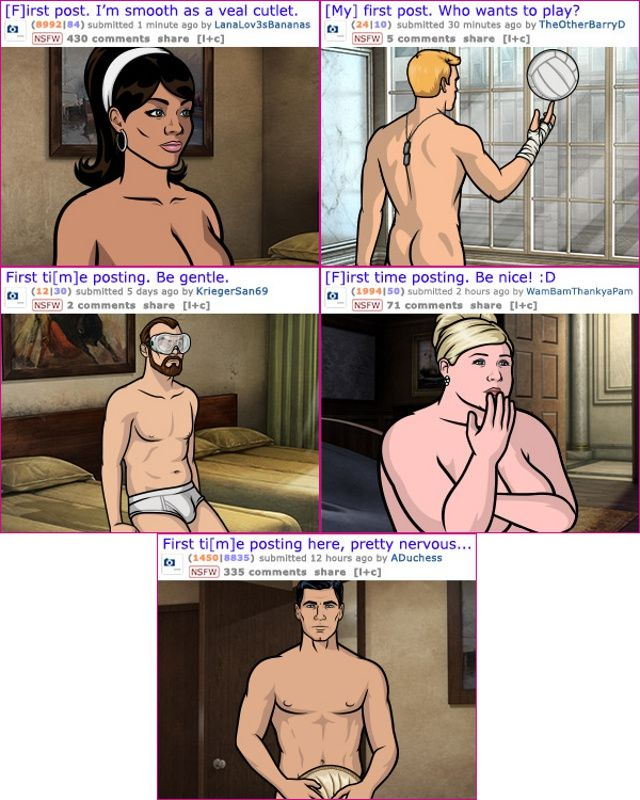 """Awesome - Archer promotes new season on Reddit's """"GoneWild"""" section"""