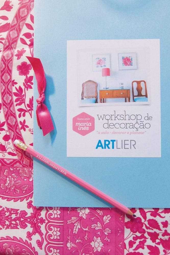 """E foi assim o Workshop de Decoração, com o tema """"a sala - decorar e planear"""", no ARTlier."""