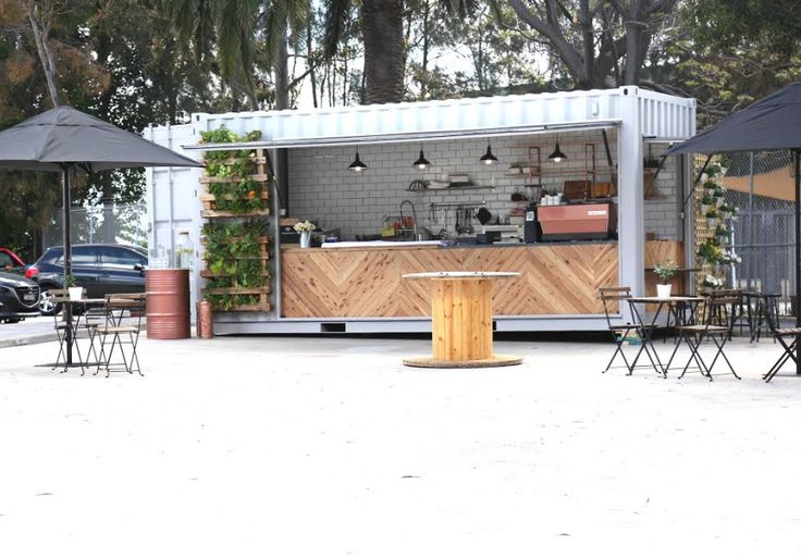 A 20-foot shipping container has been transformed into a brand new Alexandria…