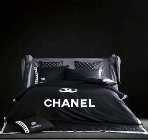 Chanel Bedding Set Black  sold by HomeOffashion . Shop more products from HomeOffashion  on Storenvy, the home of independent small businesses all over the world.