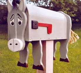 Concerned horse donkey mailboxes pinterest donkey for Funny mailboxes for sale