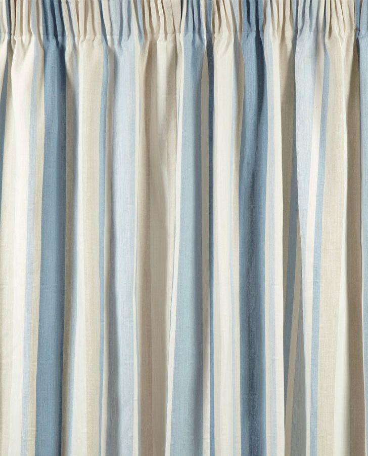 Awning Stripe Seaspray Ready Made Curtains