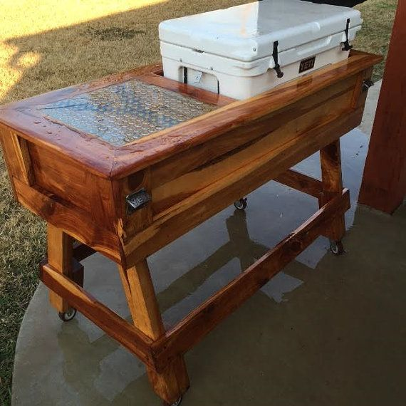 We saw our own logs into custom-size lumber! This is an Aromatic Eastern Red Cedar Yeti Cooler Holder with Bar Top for the back porch! We can make any size you would like. Above pictured is holding a 65 quart Yeti Cooler. *** Contact us for DELIVERY OPTIONS and SHIPPING PRICES, admillworks@gmail.com., or 979.575.8068. Available for Texas pick-up as well. Installation also available for additional cost. SHIPPING NOT INCLUDED IN PRICE.