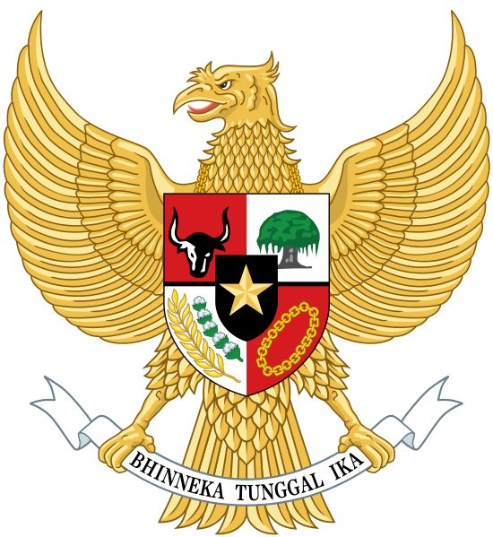 National emblem of Indonesia Garuda Pancasila.