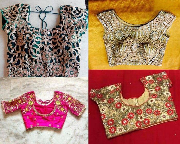 Simple Designer Readymade Blouses | Saree Blouse Patterns