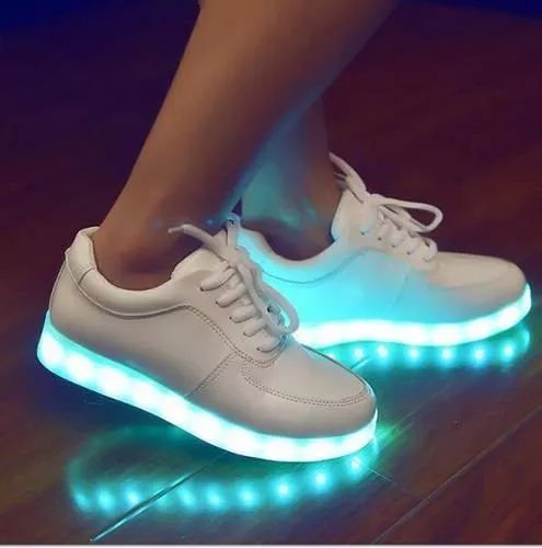 Zapatos De Luces Led Blancos