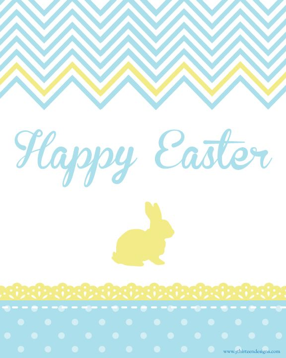 free easter printable sign! chevron pattern #free #easter #printable