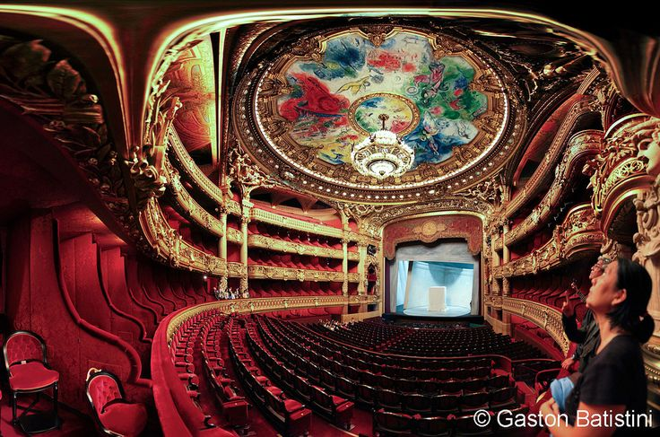 Opera Garnier, and the ceiling paint by Marc Chagall, Paris, France   Flickr - Photo Sharing!