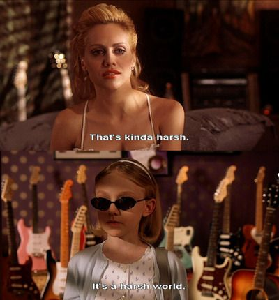 "Scene from the film, ""Uptown Girls"". I find this shot ironic yet sensible. A young woman in her mid twenties doesn't understand the harsh reality of the world because she hasn't really experienced it until now where the little girl who is probably just ten years old or so has already experienced it at such a young age. Technically, the roles are usually reversed according to society standards but in this, the theme of irony is twisted around. WK 1"