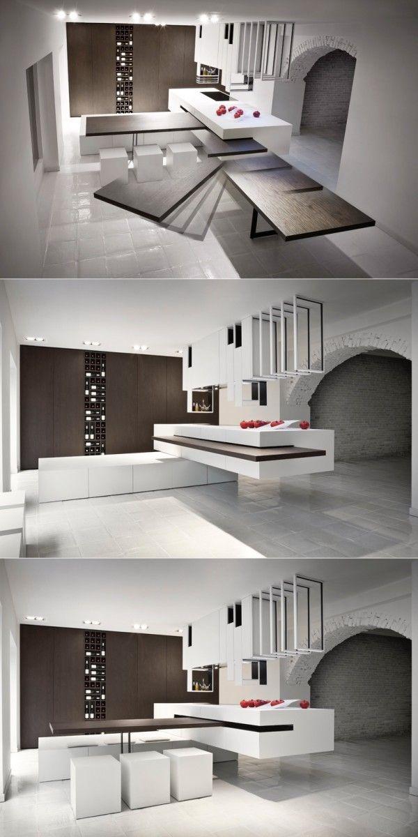 les 25 meilleures id es de la cat gorie table escamotable sur pinterest table escamotable. Black Bedroom Furniture Sets. Home Design Ideas