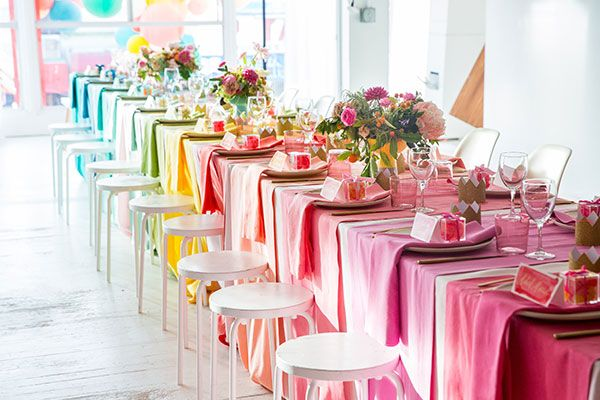Ideia super simples e linda para decoração de festa. Blog Achados de Decoração